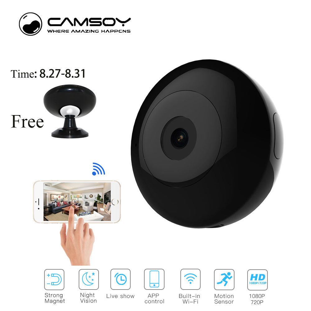 Camsoy Cookycam C2 Mini Camera 720P Night Vision HD Camcorder IP P2P WiFi Video Camera Recorder For Outdoor C1 Action Camera