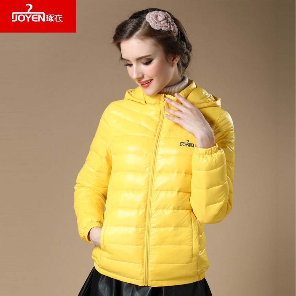 Womens Clothing 2018 New Winter warm Hooded ladies coat white duck down outwear long sleeves Women Short Down Jacket