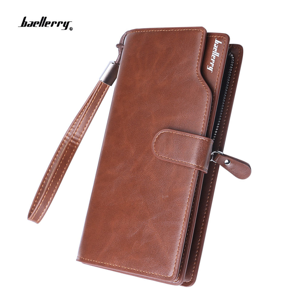 New Designer's Men Wallets business purse for male Brand Leather Clutch Wallet vintage Multifunction card purse phone bag