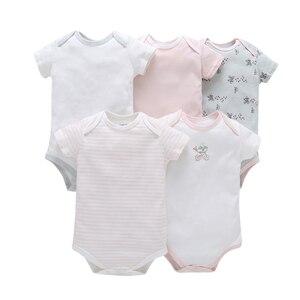 Image 5 - ノースリーブのための夏の服新生児ボーイボディースーツ 2019 新生児服ボディスーツ 5 ピース/セット 6  24 月