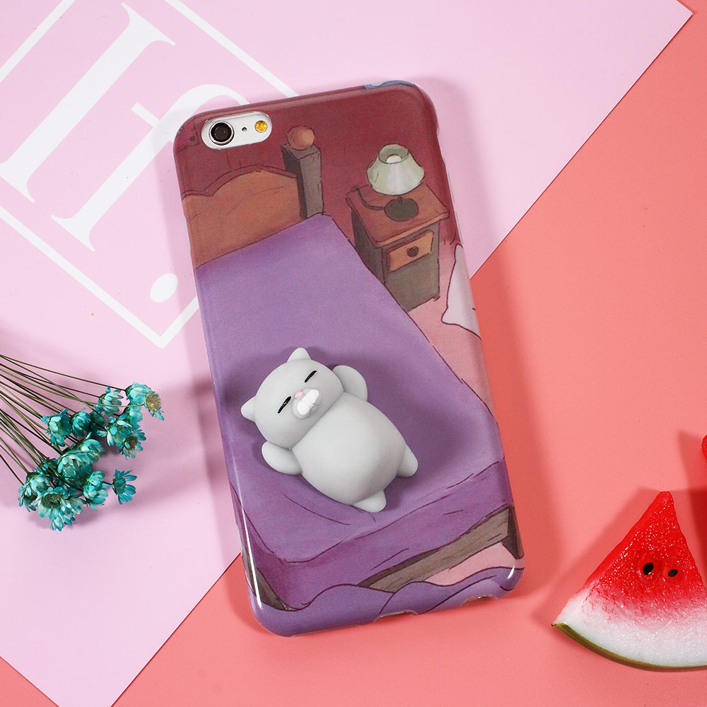 Cover iphone 5 squishy - For Iphone Case Funny 3d Soft Squishy Panda Soft Skin Frosted Tpu Back Cover Kawaii Bag