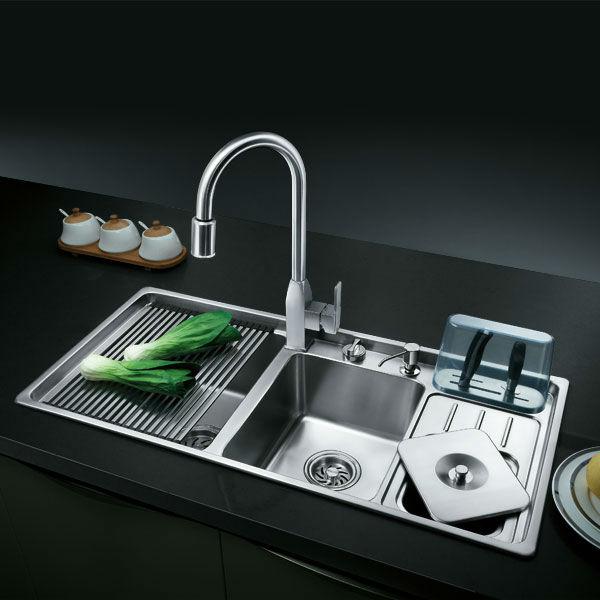 Oppein 19 gauge stainless steel triple bowel kitchen sink with oppein 19 gauge stainless steel triple bowel kitchen sink with faucet op ps9217a workwithnaturefo