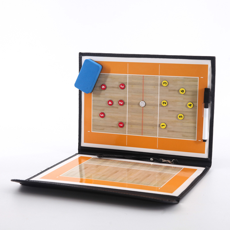 Foldable Volleyball Tactical Board Coaching Volleyball Tactic Board Magnetic Coach Handball Tactics Game Voleibol Training Teach