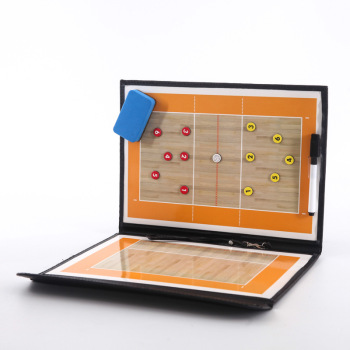 Foldable Volleyball Tactical Board Coaching Volleyball Tactic Board Magnetic Coach Handball Tactics Game Voleibol Training Teach foldable magnetic tactic board soccer coaching coach tactical board football game portable football training tactics clipboard