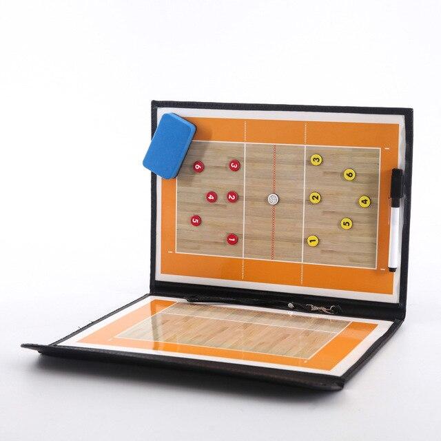 Plegable de Voleibol táctico de entrenador de Voleibol táctica Junta magnética entrenador balonmano tácticas juego de Voleibol formación enseñar