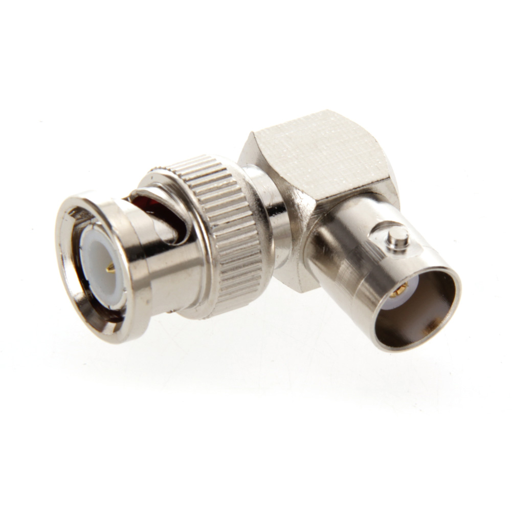 High Quality BNC Connector BNC Male to BNC Female Jack in Series Right Angle RF Adapter Connector Brand CCTV Accessories BS купить недорого в Москве