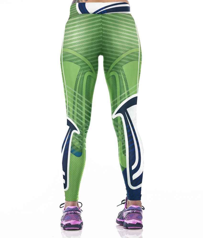 Woman Yoga Pants Fitness Fiber Sport Leggings Seattle Seahawks Sports Tights Trousers Exercise Training Gym Clothing Sportswear (4)