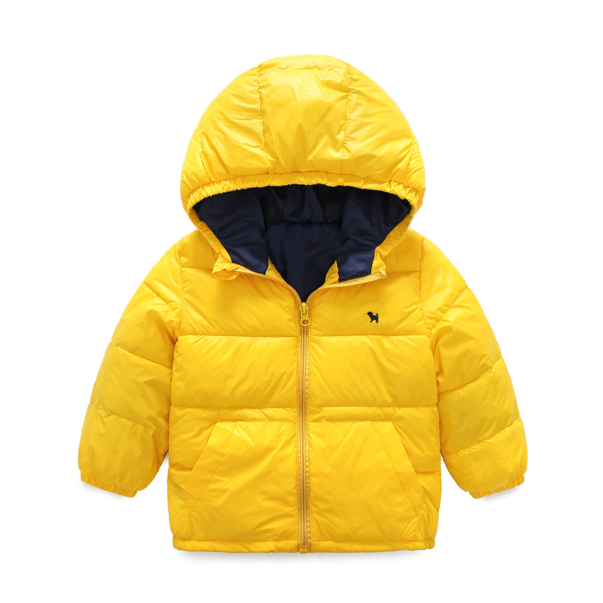 2017 New Autumn Winter 2-9yrs Children Cotton-padded Clothes Boy Thick Warm Cotton Quilted Jacket Baby Kids Outerwear Hooded  free shipping winter new children s wear patch splicing shoulder button boy cotton padded clothes child quilted jacket