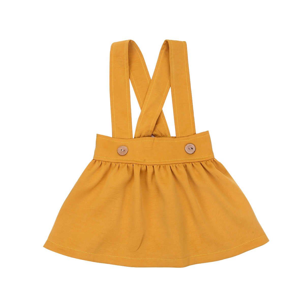 Verano de los niños de la princesa Correa Faldas Pantalones de bebé chica sólido Color rojo amarillo Casual faldas trajes