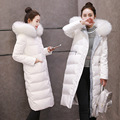 Europe 2016 new Clubman jacket female long fur collar dress slim down big thick coat