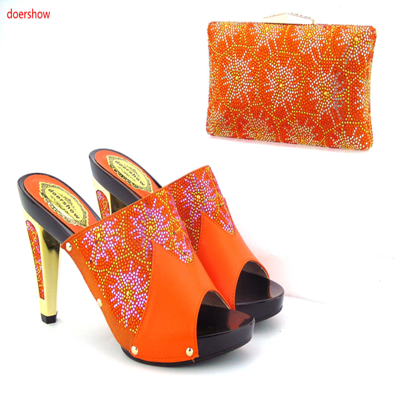 New Arrival doershow Italian Shoe with Matching Bags African Shoe and Bag Set for Party In Women Italian Shoe with Bag! ki1-1 doershow italian shoe with matching bag silver african shoe and bag set new design matching shoes and bags for party bch1 7