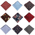 Casual Men's Handkerchief for Wedding Business Cotton Polka Dot Chest Towel Floral Pocket Square Male Handkerchief Towels Hanky