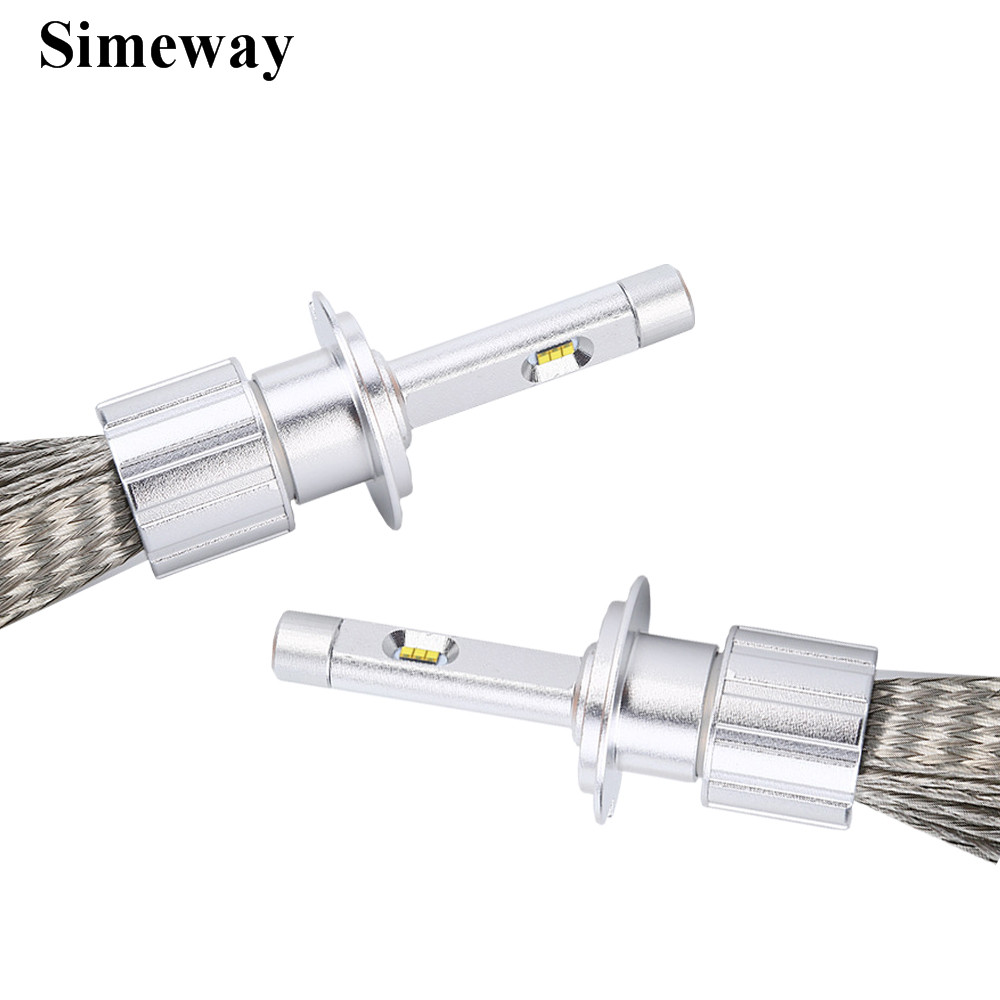 Simeway 2X led H7 led Car Headlight 96W Super white Auto led Bulb H9 H3 H1