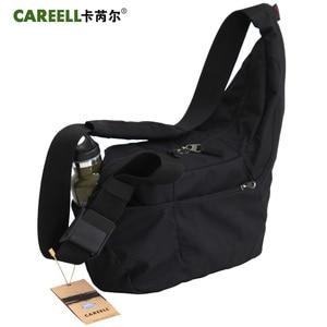 Image 3 - CAREELL C2028 고품질 배낭 트롤리 가방 한 어깨 배낭 카메라 비디오 사진 가방에 대 한 어깨를 가로 질러 기울여