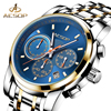 AESOP Quartz Men Watch Men Wrist Wristwatch Multifunction Full Steel Male Clock Waterproof Calendar Relogio Masculino