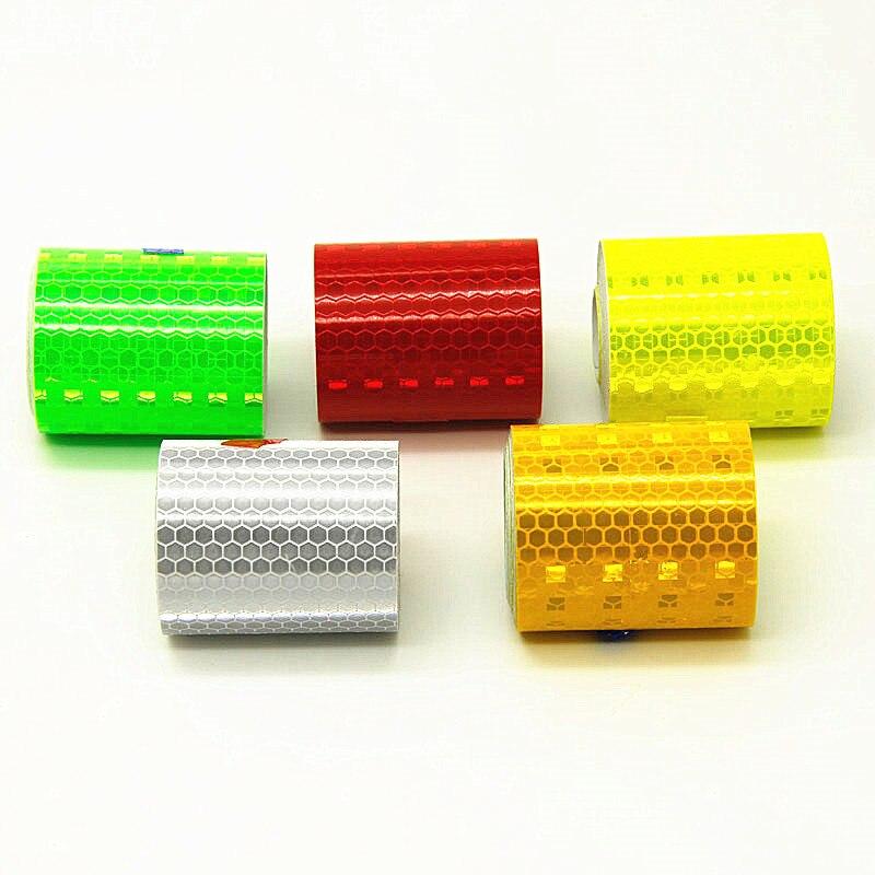 1 Pz 5 Cm * 300 Cm Nastro Riflettente Adesivo Auto-nastro Adesivo Nastri Di Avvertimento Di Sicurezza Di Sicurezza Riflettente Di Luce Striscia
