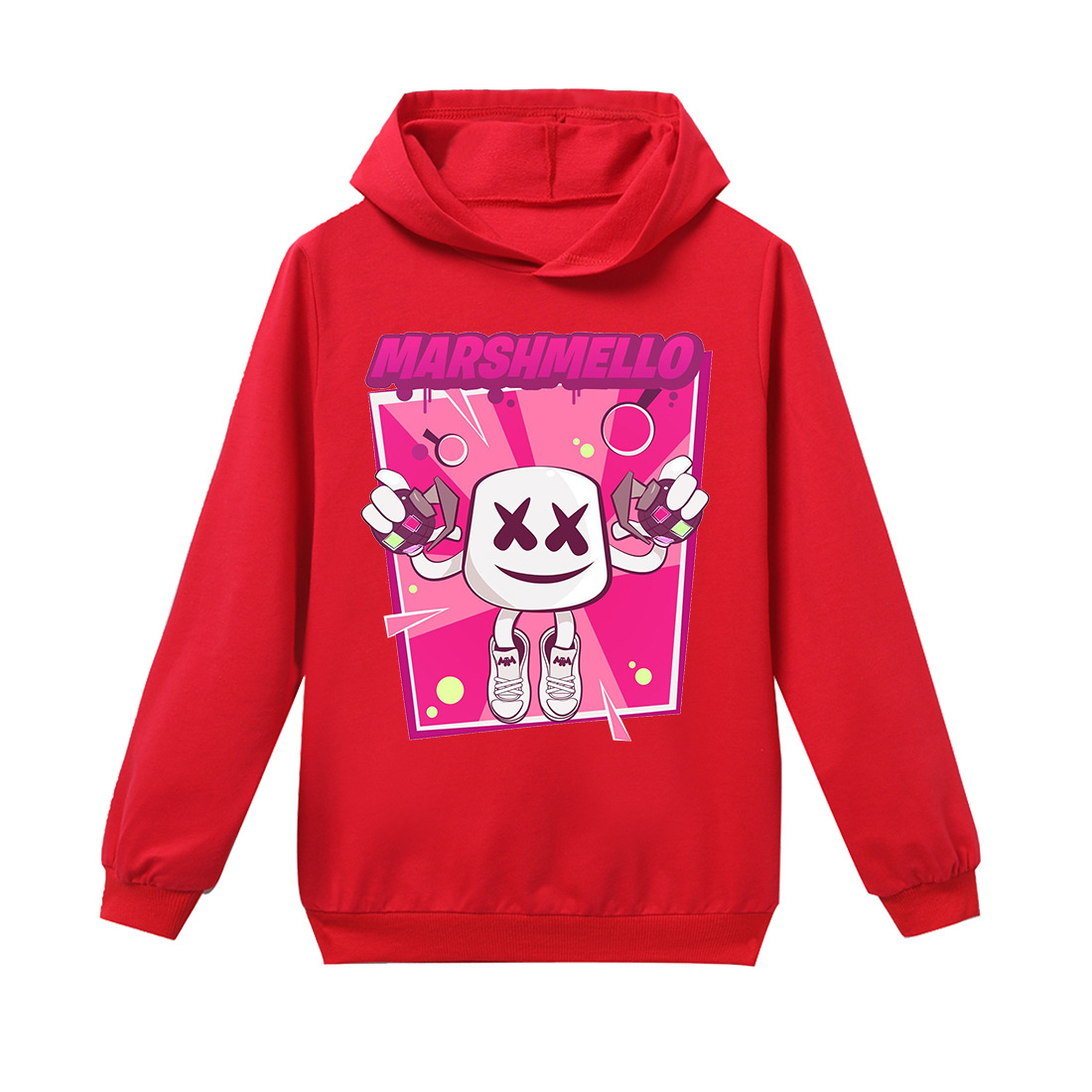 Roblox Kids Baby Boys Girls T Shirt Marshmello Dj Music Long Sleeve Cotton Tops Shirt Children Spring Autumn Clothes 6 14 A432