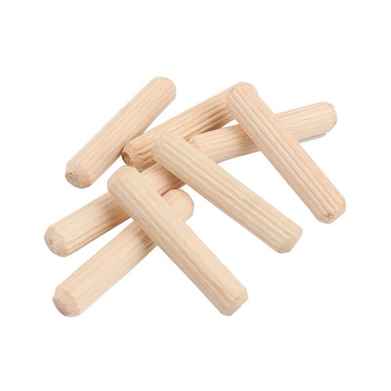 100pcs Round Dowel Pins 6*30mm Woodworking Hardwood Furniture Fitting Furniture Tools 100 pcs stainless steel 2 9mm x 15 8mm dowel pins fasten elements