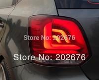DLAND для 2010 2018 поло 6R GTI автомобилей светодиодный задний фонарь в сборе, полный светодиодный источник света