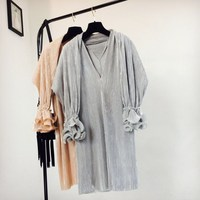 2017 Women Fashion Elegant Dress Ruffles Shawl And Loose Dress Two Pieces Sets Women Clothing Vestidos