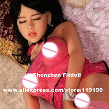 158cm silicone vagina sex doll with close eyes, japanese real doll, realistic sexy doll vagina real pussy anal, sex products