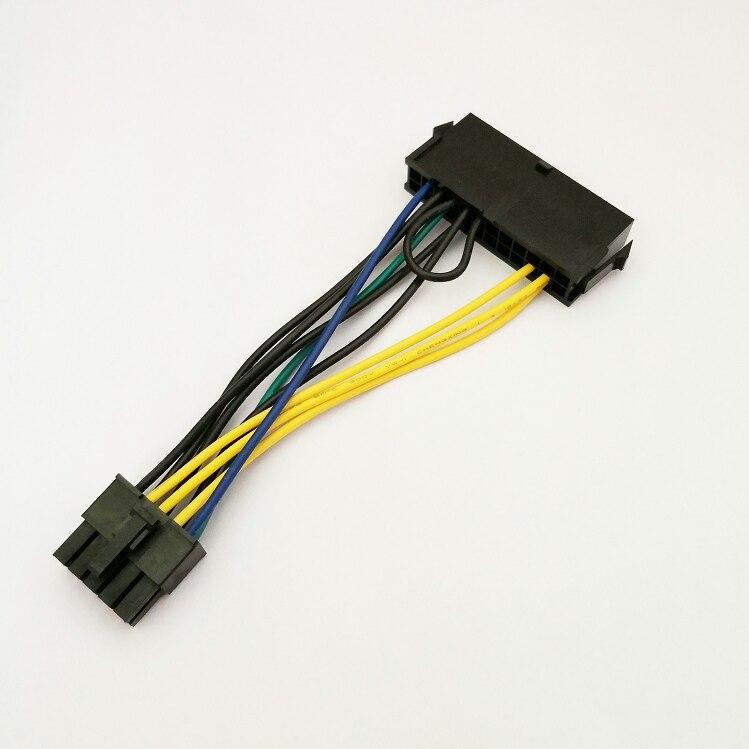 50 sztuk/partia ATX 24 Pin żeńskie do 10 Pin męski Adapter zasilania kabel zasilający przewód dla Lenovo 10PIN płyta główna w Kable i złącza do komputera od Komputer i biuro na AliExpress - 11.11_Double 11Singles' Day 1