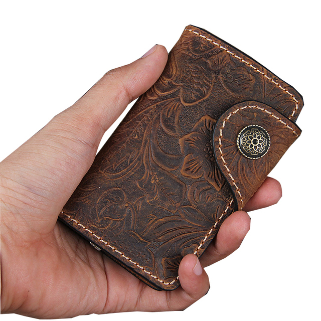 2017 Hand-Made Cowhide Car Key Case Keys Housekeeper Of Genuine Leather Kolster Wallet Three Colors Retro Keys Holder KW071-B