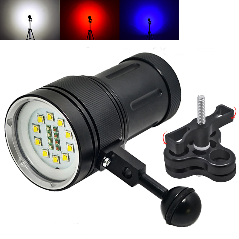 NEW Diving LED Flashlight Underwater 100m Waterproof Photography Video Tactical Flashlight 10CREE XML2 12000 Lumens LED Torch powerful handlight outdoor tactical flashlight 1300lm tactical led flashlight torch outdoor waterproof aluminum alloy