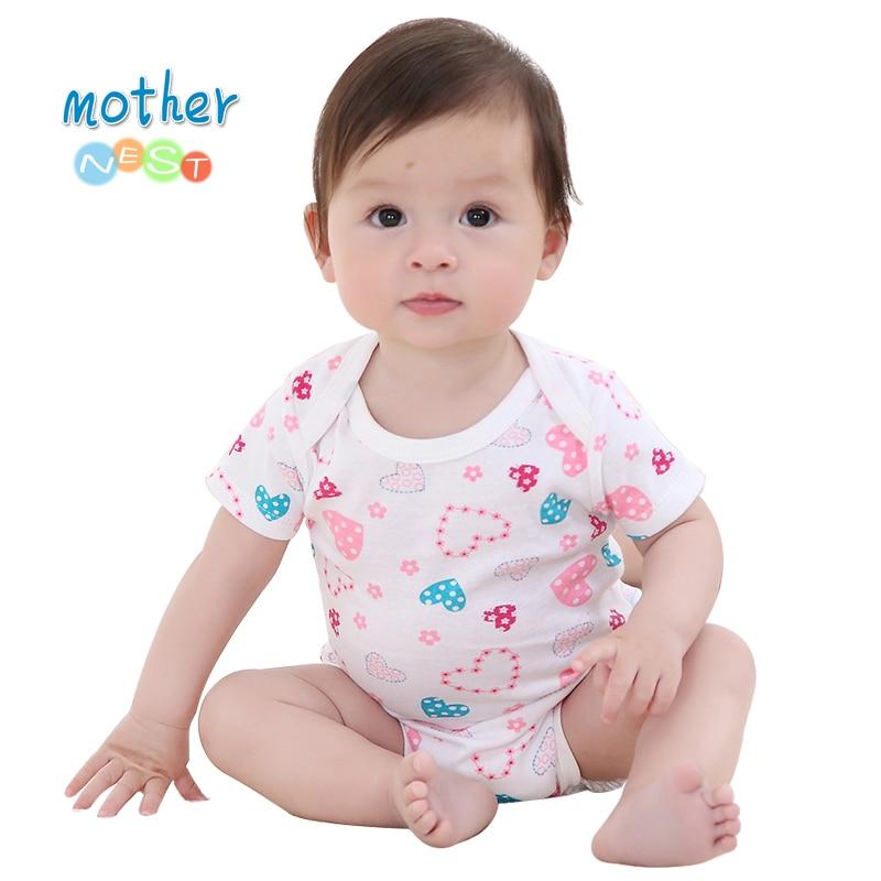 Baby Bodysuit 2018 Fashion Heart Printed Pattern Toddler Ropa Baby Pajamas Body Suit Summer Newborn Baby Clothing