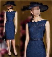 2019 Navy Blue Lace Short Mother Of The Bride Dresses Madre De Los Vestidos De La Novia Evening Formal Women Dress Bride Mother
