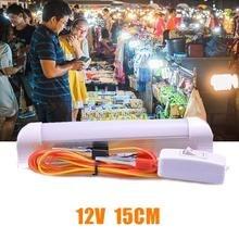 DC12V 15cm LED T8 Bulb Light Night Market Fluorescent Lamp Daylight With Switch