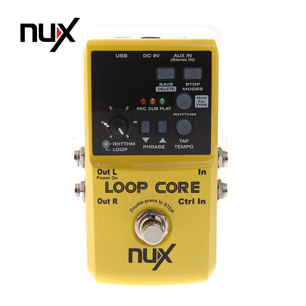buy nux loop core guitar pedal 6 hours recording time guitar effect pedal built. Black Bedroom Furniture Sets. Home Design Ideas