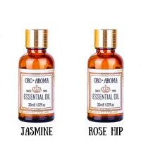 Znane marki oroaroma zestaw do pielęgnacji włosów natural rose hip oleju Jaśminu aromaterapią oleju Naprawy pielęgnacja twarzy Masaż Oleju 30 ml * 2
