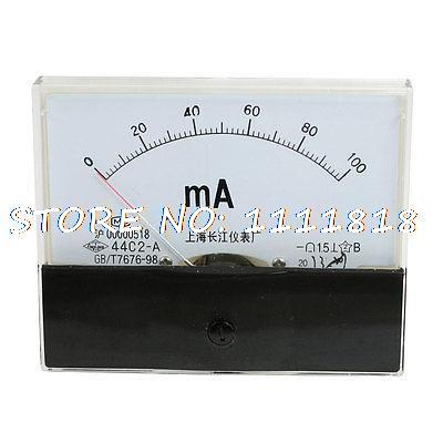 Plastic Class 1.5 Accuracy Milliamp Panel Meter Gauge DC 0-100MA