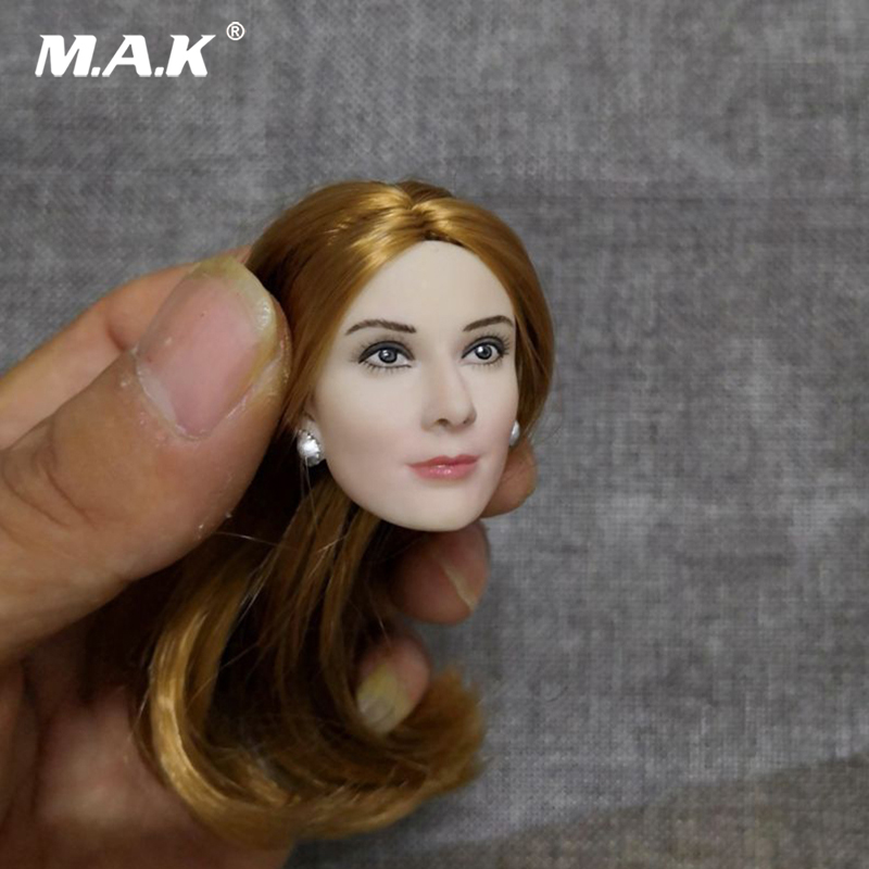 1/6 Female Head Sculpt Accessory Europe Evan Rachel Wood Blond Pale Head Sculpt Carving Model for 12'' Action Figure Body uyue 948q max 11 inches lens glass repair built in vacuum pump mobile phone lcd touch screen separator machine