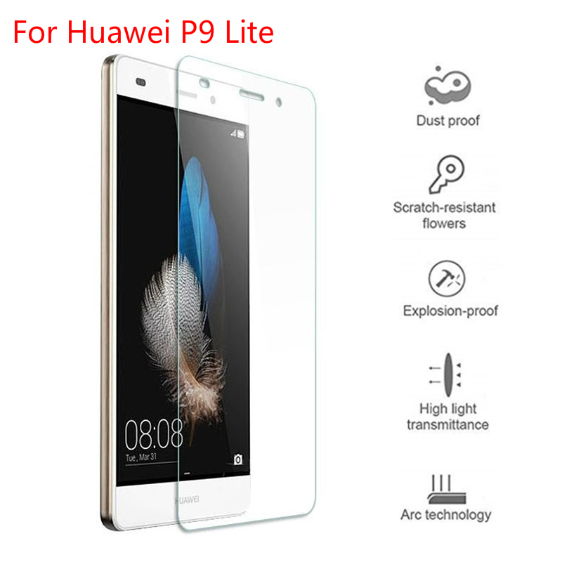 100 PCS 2 5D 0 3mm Tempered Glass For Huawei P30 pro P9 P8 P10 lite 2017 phone compact Honor 7A 7X 8X 6A 6X 9 8 lite Glass Film in Phone Screen Protectors from Cellphones Telecommunications