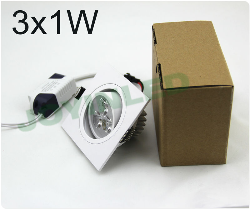 36w Dimmable Led Ceiling Down Light Bathroom Fitting: Aliexpress.com : Buy 4pcs 3W Dimmable White Shell Square