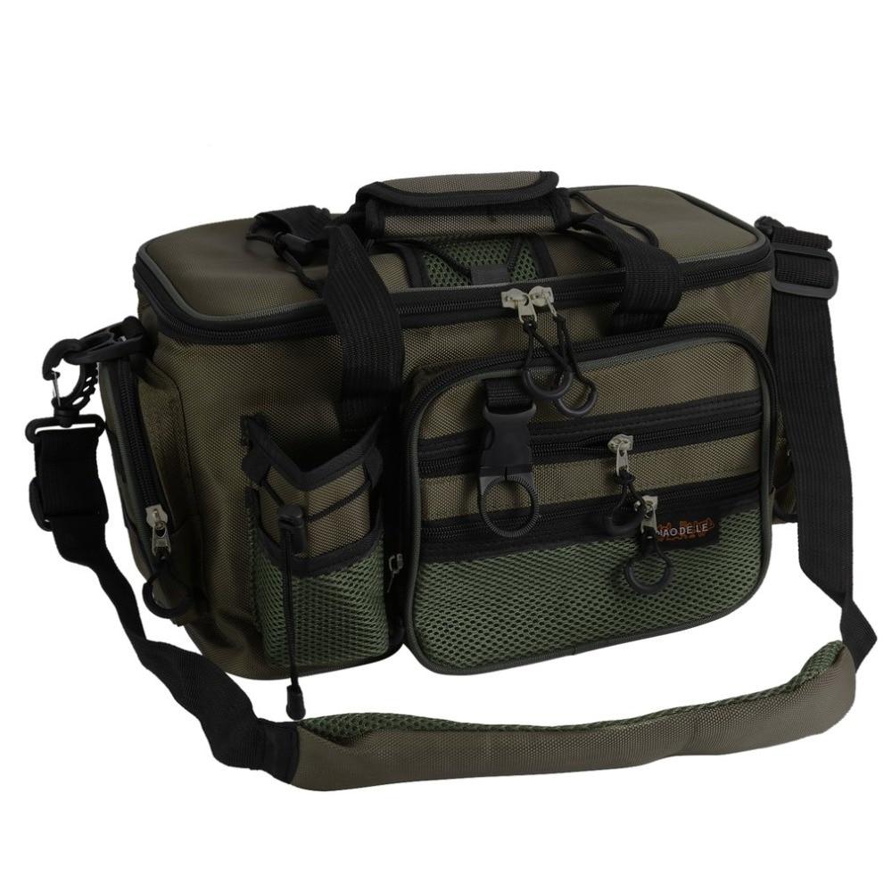 Fishing Bag Large Capacity Multifunctional Lure Tackle Pack Shoulder Bag Box