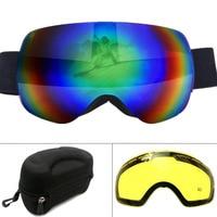 แว่นตาสกีฤดูหนาวทรงกลมUV400ป้องกันหมอกใหญ่หน้ากากสกีแว่นตาผู้ชายผู้หญิงหิมะสโนว์บอร์ดแว่น...