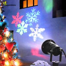 Laser Projector Lamps Snowflake LED Stage Light For Christmas Party Landscape Light Waterproof Outdoor Garden Lamp