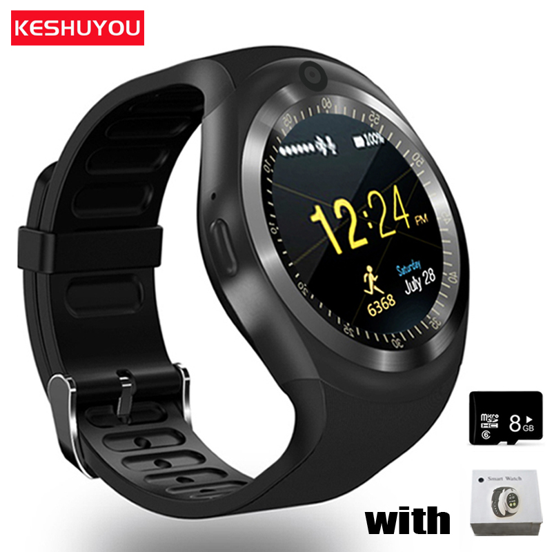 KESHUYOU Camera Smart watch Bluetooth 2G Men smartwatch Multilingual SIM TF Android IOS Call Watch For phone Samsung HUAWEI цена