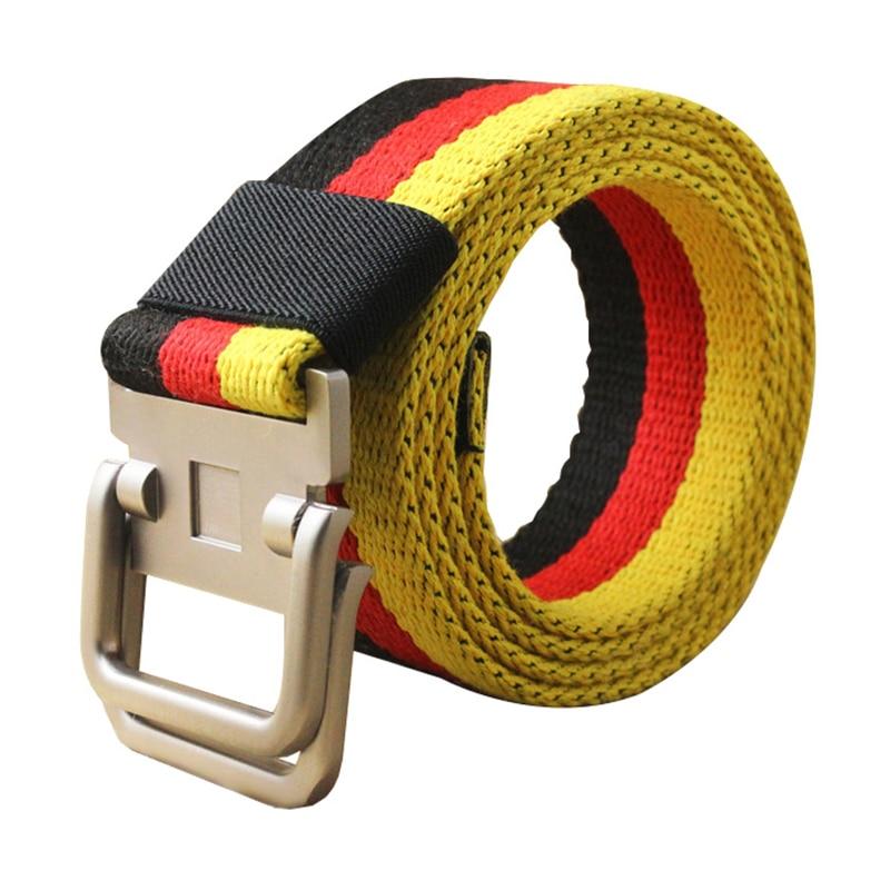 Colorful Fashion strap Casual style   belt   Men Women Alloy buckle Sport straps Outdoor   belts   Cintura uomo Canvas strap pants Punk