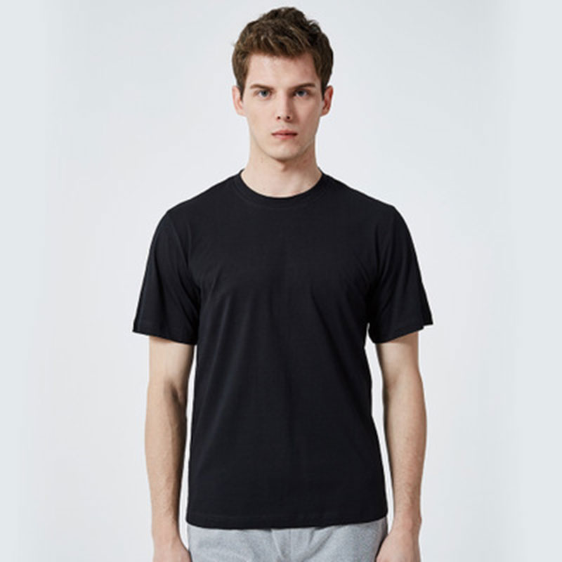 The New Men's Front, Back Long Round Neck And Short Sleeve