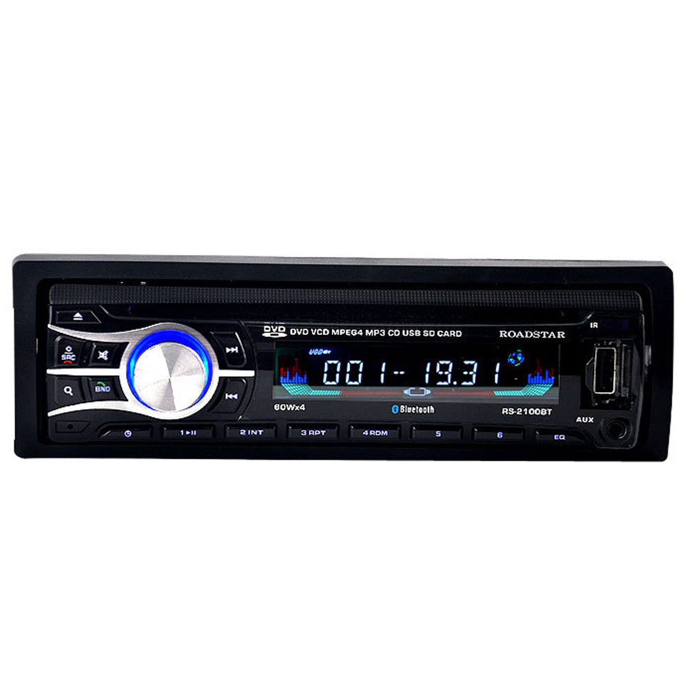 Car Styling 2016 Universal Hot Single Din Car Bluetooth DVD CD Player Vehicle MP3 Stereo Radio &Wholesale car styling universal abs plastic hood vents gtr type for any vehicle in stock