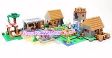 Lele 79288 1673 unids kits de edificio modelo compatible mi mundo minecraft pueblo bloques educativos juguetes y pasatiempos para niños 21128