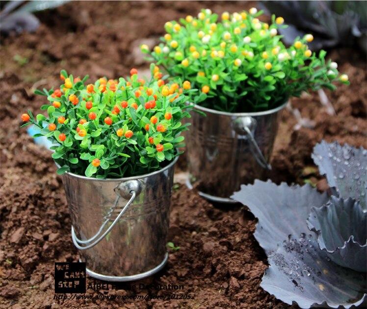 comprar estilo pastoral pequea maceta barriles unid estao cubo suculentas macetas jardineras colgantes home garden decoration de potted