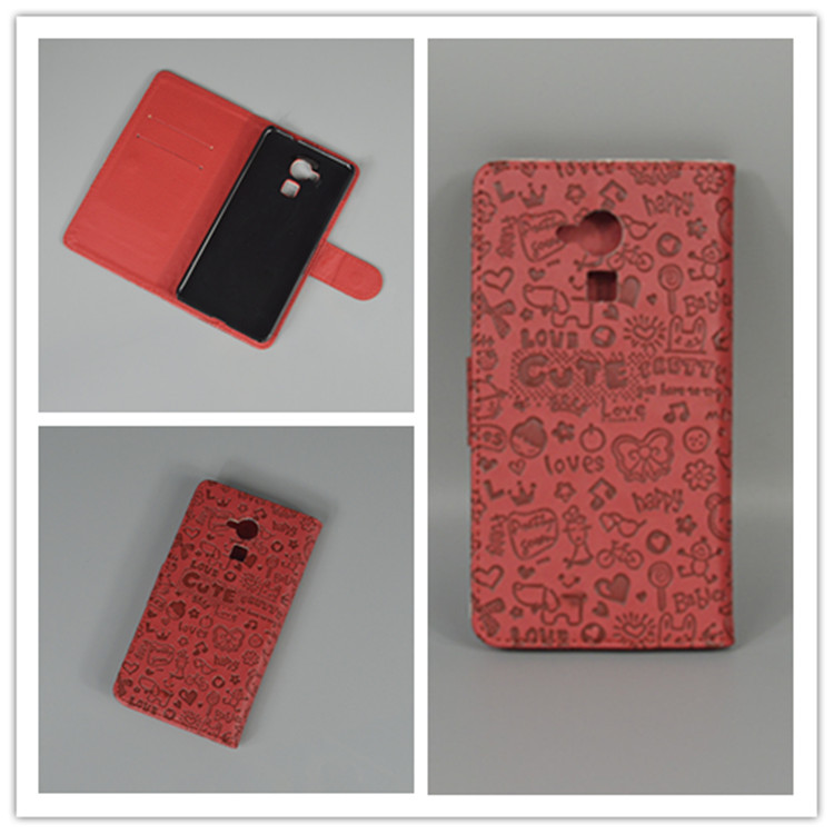 little watch Cute Leather Case Cove hold two Cards with 2 Card FOR Huawei Honor 5C free shipping
