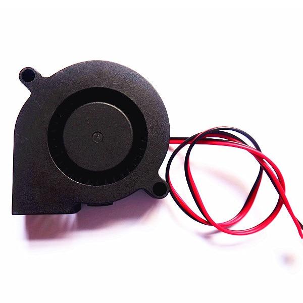 31mm 5015 Ultra-quiet Turbo Small Fan for 24V 3D Printer Black Durable
