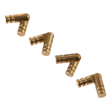 4Pcs Pure Copper Brass Barrel Hinges Jewelry Boxes Cabinet Hidden Invisible Concealed Hinge Mount Furniture Hardware 20*4mm
