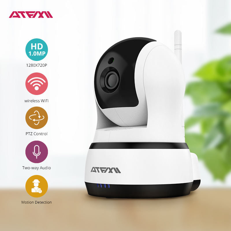 ATFMI Home Security IP Camera Wireless WIFI Camera Surveillance 720P Night Vision  P2P CCTV Baby Monitor Two-way Audio